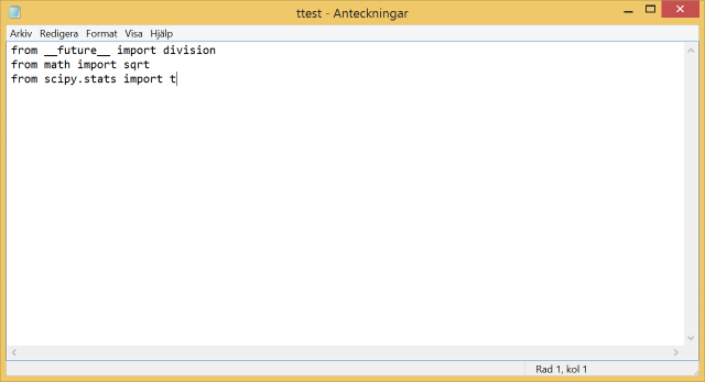 Notepad text editor can be used to write Python scripts (.py).
